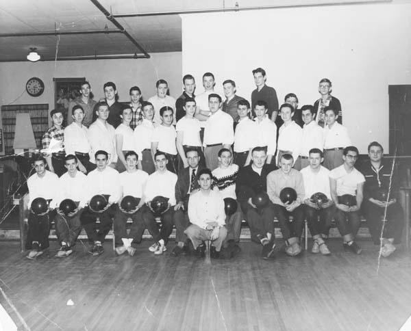 Members of the Gloversville High School bowling team, circa 1952, 1953. (Photo courtesy of Tony Ferraro)