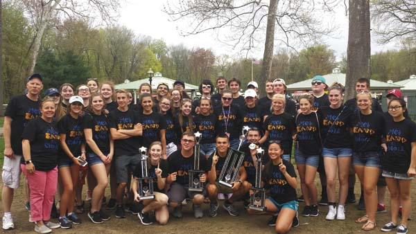 Pictured are students in the Mayfield High School concert band, jazz band and select chorus that won awards at the Music in the Parks Festival at Westfield High School in Westfield, Mass., April 29. (Photo submitted)