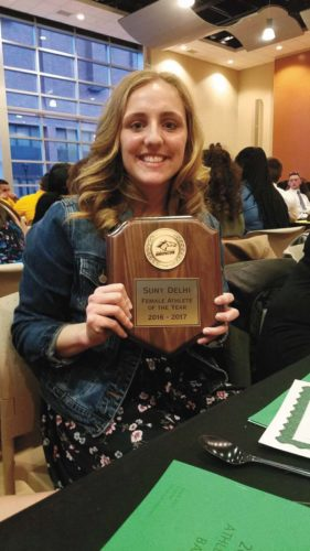 Broadalbin-Perth graduate Katie Herba was named SUNY Delhi's Female Athlete of the Year for 2016-17.  (Photo submitted)