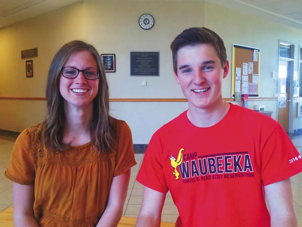 Cassidy Ferguson and Austin Countryman are Canajoharie Central School's salutatorian and valedictorian, respectively. (Photo submitted)