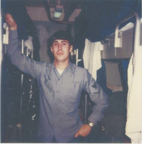 Third-class petty officer Michael Anich is shown aboard the USS Nimenz in 1979. (Photo courtesy of Michael Anich)