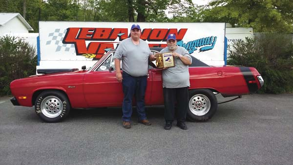 Fort Plain's Harold Robbins won the pro eliminator class at the NHRA New York State Championships at Lebanon Valley Dragway on Sunday in West Lebanon. Robbins and his father, Brooks, compete as Robbins and Son Racing. (Photo submitted)