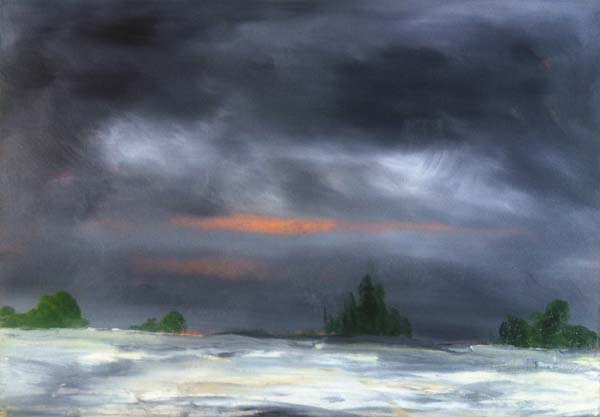 "Shown is Bill McLaughlin's ""Last Light,"" an oil on canvas painting. (Photo submitted)"