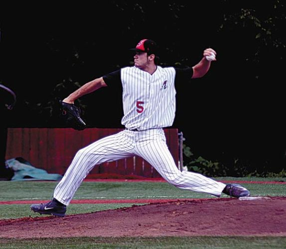 Former Amsterdam Mohawk Zach Logue was selected in the ninth round of the Major League Baseball draft Tuesday by the Toronto Blue Jays. (The Leader-Herald/James A. Ellis)