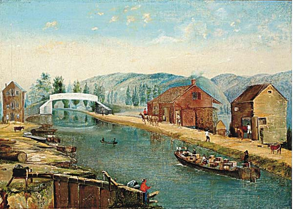 "Shown is ""Erie Canal, 1856,"" by S. George, 1856. It's part of the ""Mingling the Waters: 200 Years on the Erie Canal"" exhibit scheduled to open June 24 at the Arkell Museum. (Photo submitted)"
