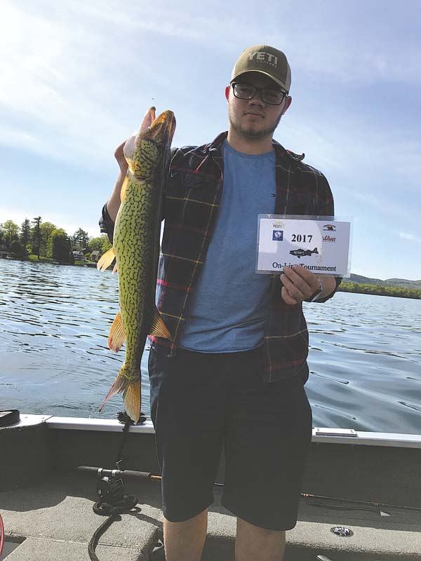 Ian Halloran, first place in the pickerel category. (Photo submitted)