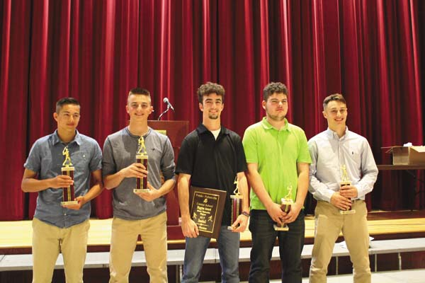 The Fonda-Fultonville baseball team handed out its awards at the FFCS spring sports awards night June 7 in the high school auditorium. (Photo submitted)