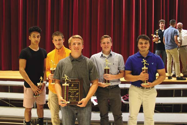 The Fonda-Fultonville boys track and field team handed out its awards at the FFCS spring sports awards night June 7 in the high school auditorium. (Photo submitted)