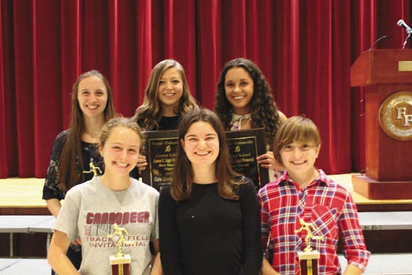 The Fonda-Fultonville girls track and field team handed out its awards at the FFCS spring sports awards night June 7 in the high school auditorium. (Photo submitted)