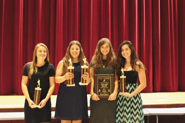 The Fonda-Fultonville softball team handed out its awards at the FFCS spring sports awards night June 7 in the high school auditorium. (Photo submitted)