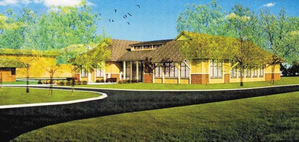Above is an artist's rendering of the proposed Allen House. (Photo submitted)