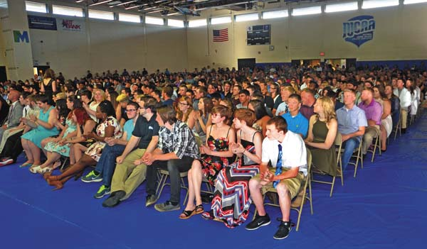 An overview of the students awaiting their certificates during the Hamilton-Fulton-Montgomery Career and Technical Center Student Recognition Program at Fulton-Montgomery Community College in Johnstown on Tuesday. (The Leader-Herald/Bill Trojan)