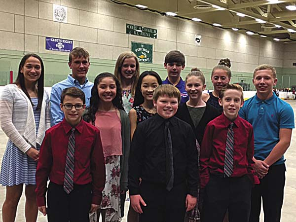 A total of 12 students from the Greater Johnstown School District were among those recognized in May at the Sandra G. Morley Leadership Award ceremony at Hudson Valley Community College. (Photo submitted)