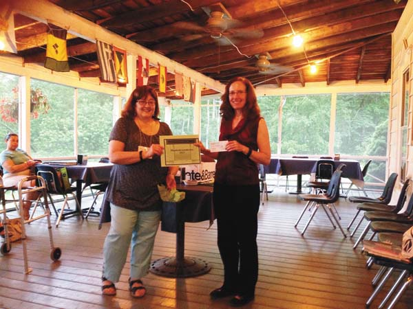 Local AAUW branch presents FMCC graduate, Elizabeth Gundersen,  with  scholarship to continue studies. (Photo submitted)