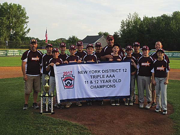 Fonda-Fultonville won the District 12 Triple AAA 11-and-12-year-old all-star tournament. (Photo submitted)