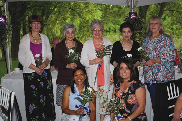 Pictured in the photo, back row from left, are new St. Mary's auxiliary members Debbie Miller; Dolores Morrow; Marilyn Ault; Angela Andolina; Mary Ann Alkonis. Front row, from left, Socorro Rivera and April Jemmott. Missing from the photo is Brittany Gillen. (Photo submitted)