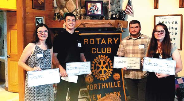 Northville Central School Scholarship Award Winners include Shelby Walton, Danny Reidell, Michael Darling and Sara Cotrafeld. (Photo submitted)