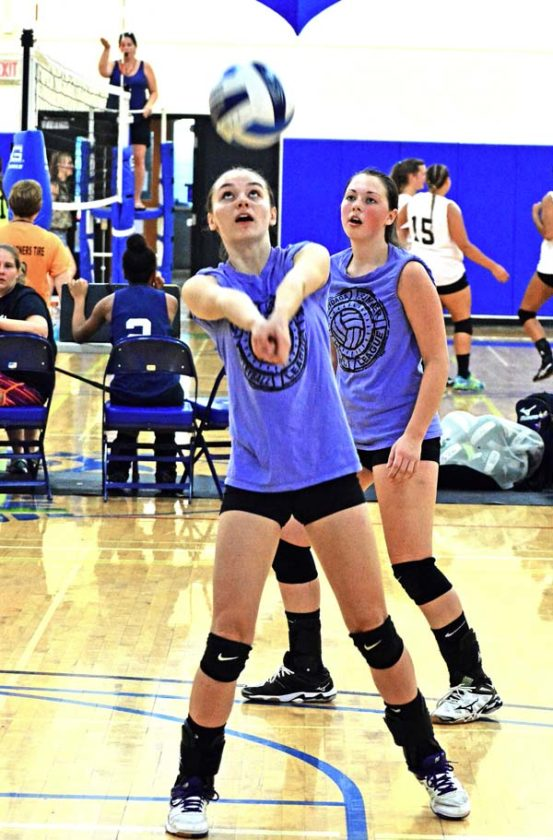 The Leader-Herald/Bill Trojan   Summer Volleyball: F-F Kaitlyn Gray. 7/19. Game between Amsterdam and F-F.
