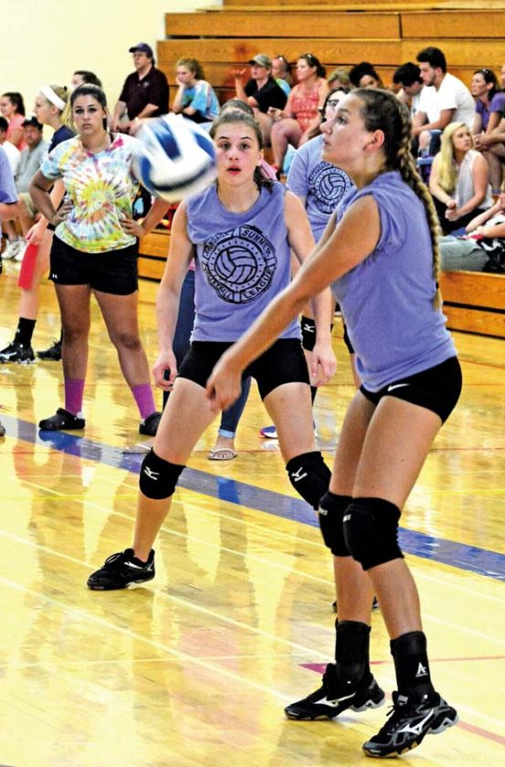 The Leader-Herald/Bill Trojan   Summer volleyball: F-F Taylor Etherton. 7/19. Game between Amsterdam and F-F.