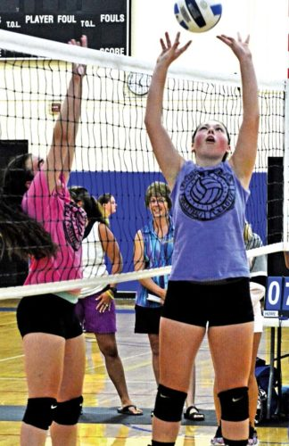 The Leader-Herald/Bill Trojan   Summer volleyball: F-F Hanna Moore. 7/19. Game between Amsterdam and F-F.