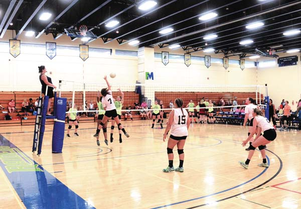 The Leader-Herald/Bill Trojan   A volleyball match between Johnstown and Middleburgh. 7/19