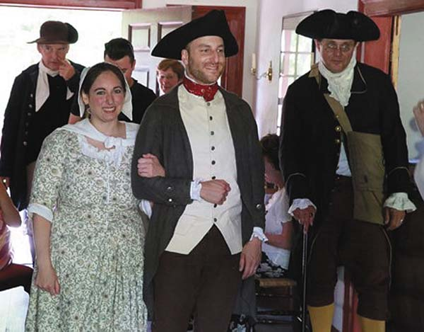 "A scene from the re-enactment of ""Marriage of Gil and Lana Borst Martin,"" to be held at 3 p.m. Saturday at the 18th-century Palatine Church. (Photo submitted)"
