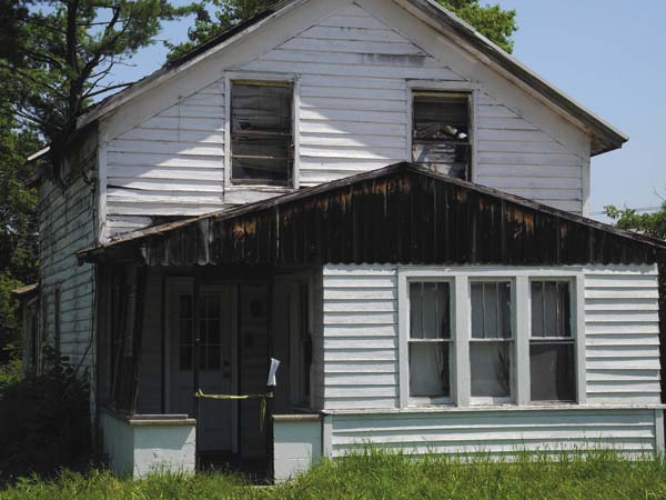 This former house at 159 E. State St., Johnstown, seen Thursday - now owned by the city - may be razed by the Fulton County Demolition Team. (The Leader-Herald/Michael Anich)