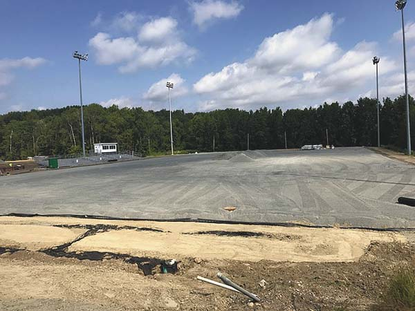 Construction continues on the new athletic fields at Gloversville High School. (Photo submitted)