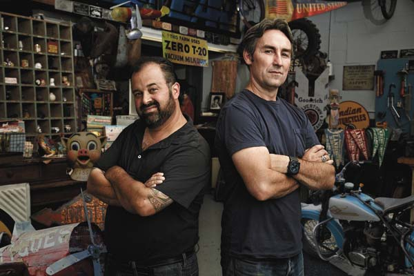 "Frank Fritz, left, and Mike Wolfe of ""American Pickers"" will be in New York in September to discover and explore new antique collections. (Photo submitted)"