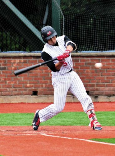 Amsterdam's John Valente was named to the all-Perfect Game Collegiate Baseball League first team. Valente led the league with a .422 average this season with the Mohawks. (The Leader-Herald/Bill Trojan)