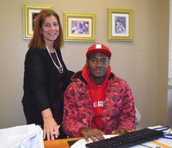 Assit. Professor Charlene Dybas and FMCC student, Al Green. (Photo submitted)