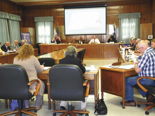 The Fulton County Board of Supervisors on Monday table a resolution to create water lines from the city of Gloversville to Route 67 in Johnstown. (The Leader-Herald/Michael Anich)