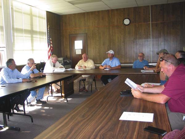 The Shared Services Panel meet to vote on Shared Services plan in Fonda shown on Tuesday. (The Leader-Herald/Briana O'Hara)