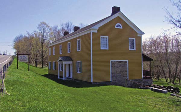 Palatine Settlement Society The historic 1747 Nellis Tavern on Route 5 near St. Johnsville after its restoration by the Palatine Settlement Society. (Photo courtesy of the Palatine Settlement Society)