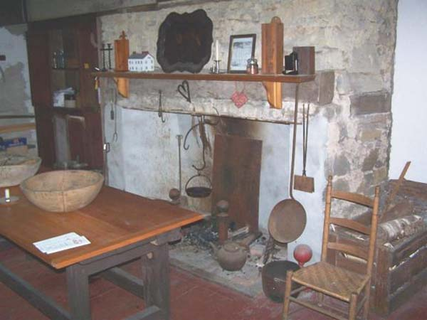 A limestone fireplace in what was most likely a dining room in the historic 1747 Nellis Tavern. (Photo courtesy of the Palatine Settlement Society)