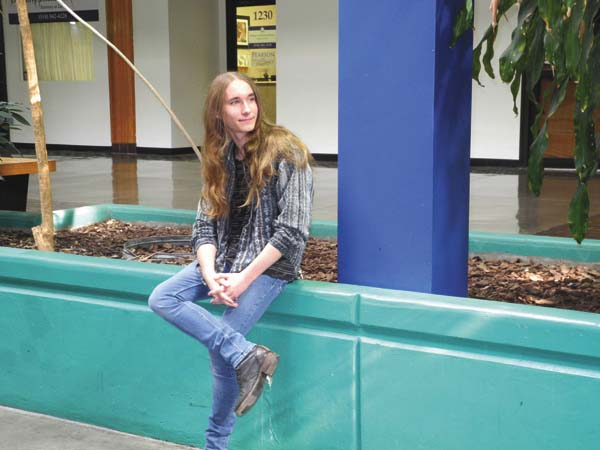 Town of Glen singing sensation Sawyer Fredericks waits to be interviewed Thursday by area media at the Riverfront Center in Amsterdam. (The Leader-Herald/Michael Anich)
