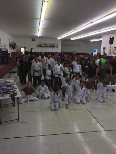 Students of the American Zen Do Kai Martial Arts School in Johnstown recently competed in their annual school tournament. (Photo submitted)