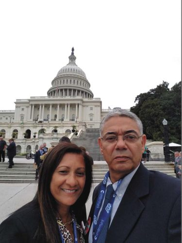 Maria and Ramon Rodriguez during their stay in Washington, D.C.  (Photo submitted)