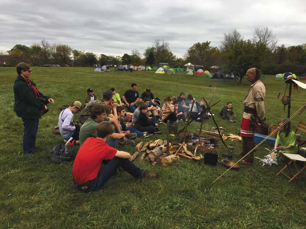 Boy Scouts participate in the Fort Plain          Museum's American History Boy Scout Jamboree. (Photos courtesy of Fort Plain Museum)