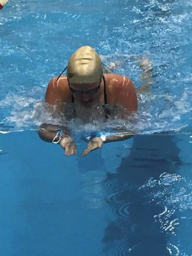 Fonda-Johnstown's Emily Miles posted a pair of fourth-place finishes during the Section II Division 2 Girls Swimming and Diving Championships at Shenendehowa High School on Saturday. Miles was fourth in the 100-yard freestyle and 100-yard breaststroke. (Photo submitted)