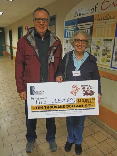 """The winners of the $10,000 """"Feather Your Nest"""" grand prize were Immaculata and Frederick Lieber of Fort Plain. (Photo submitted)"""