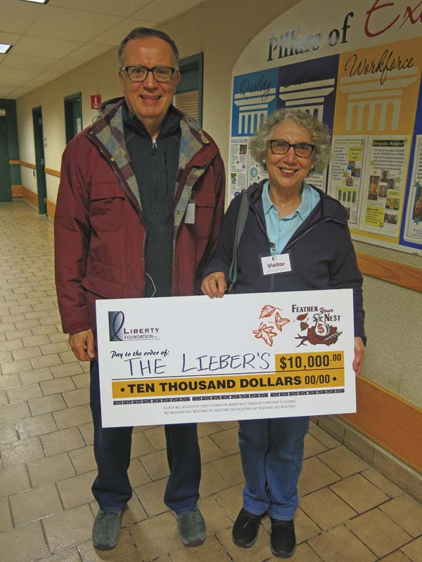 "The winners of the $10,000 ""Feather Your Nest"" grand prize were Immaculata and Frederick Lieber of Fort Plain. (Photo submitted)"