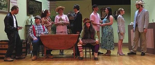 """Some of the cast for the """"Laffing Room Only"""" play scheduled for this weekend at Knox Junior High School auditorium. (Photo submitted)"""