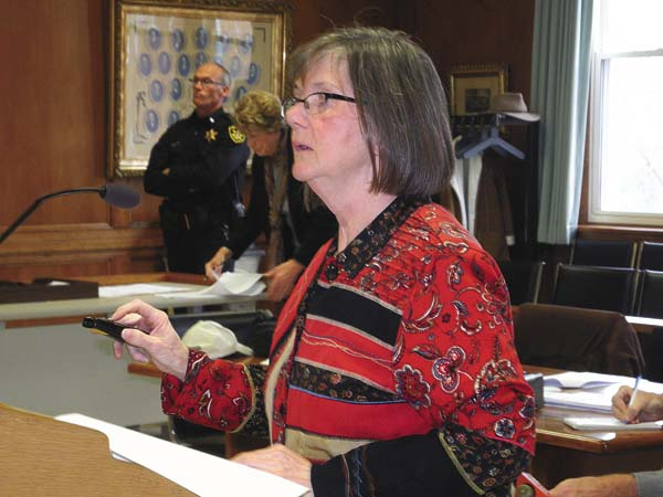 Fulton County Budget Director Alice Kuntzsch gives a presentation on the county's 2018 tentative budget Monday at the County Office Building in Johnstown. (The Leader-Herald/Michael Anich)
