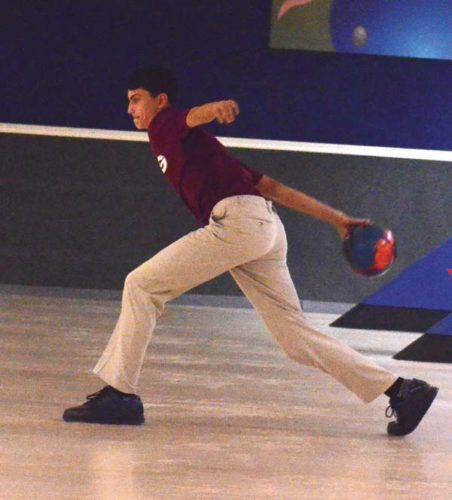 Gloversville's Mark Sgambato rolled a 299 game during the Huskies' 4-0 victory over Broadalbin-Perth on Monday at Arterial Lanes. (The Leader-Herald/James A. Ellis)
