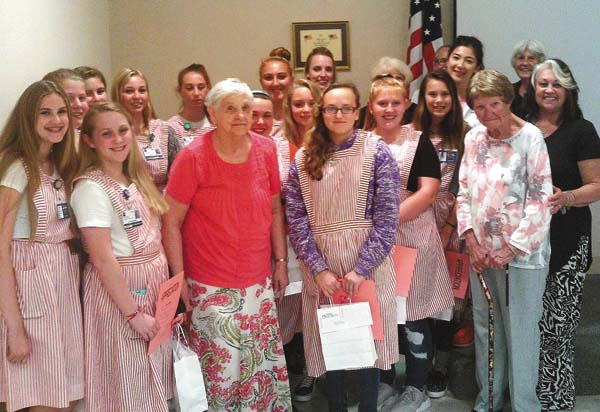 Nathan Littauer Hospital and Nursing Home recently honored Candystriper volunteers at an awards ceremony. (Photo submitted)