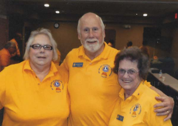 From left, are PDG Linda Walsh Rhinehart of the Gloversville Lions Club; PDG Ed Stano of the Greenfield Lions Club, Saratoga County; and PDG Joan Scott of the Glens Falls Lions Club, Warren County, all Past District Governors. The District 20-Y2 of the area Lions Club elected three trustees for their area and Bermuda Lions Foundation and will meet three times a year in Binghamton to give grants to local Lions Clubs. (Photo submitted)