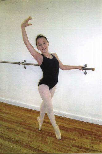 Tara Sweeney, age 11, a sixth-grade student at Warren Street Elementary School and the daughter of Jacki and Lyman Sweeney of Johnstown, will be performing in The Northeast Ballet's Nutcracker at Proctors Theatre under the direction of Darlene Myers. The performances are at 10 a.m. Friday, at 7 p.m. Saturday and at 2 p.m. Sunday. She will be dancing the roles of Confections and Marzipan. This is Sweeney's seventh year in the Northeast Ballet's Nutcracker. (Photo submitted)