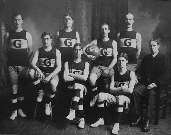The 1905-06 Company G basketball team is pictured.