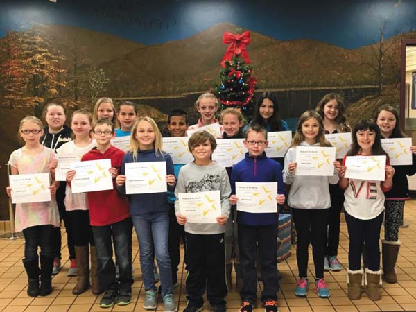 Congratulations to Warren Street's Students of the Month for November. The following students were recognized by students and staff for displaying the trait of cooperation:  Lindsay Stanton, Elliot Haverly, Baylee Cooper, Isaac Simmons, Jillian Fudger, Alandra Oddy, Casey Lamori, Sierra Lundquist, Sabrina Stanton, Aubree Zajaczkowski, Jonathon Steenburgh, Jena Barker, Kelsey Walker, Sam Stearns, Brooke Weaver, Marcus Wilson, Kurstin Wilson and Zoey VanEtten. (Photo submitted)